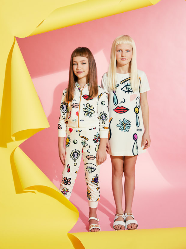 Abstract Pop prints for Moschino kidswear summer 2017