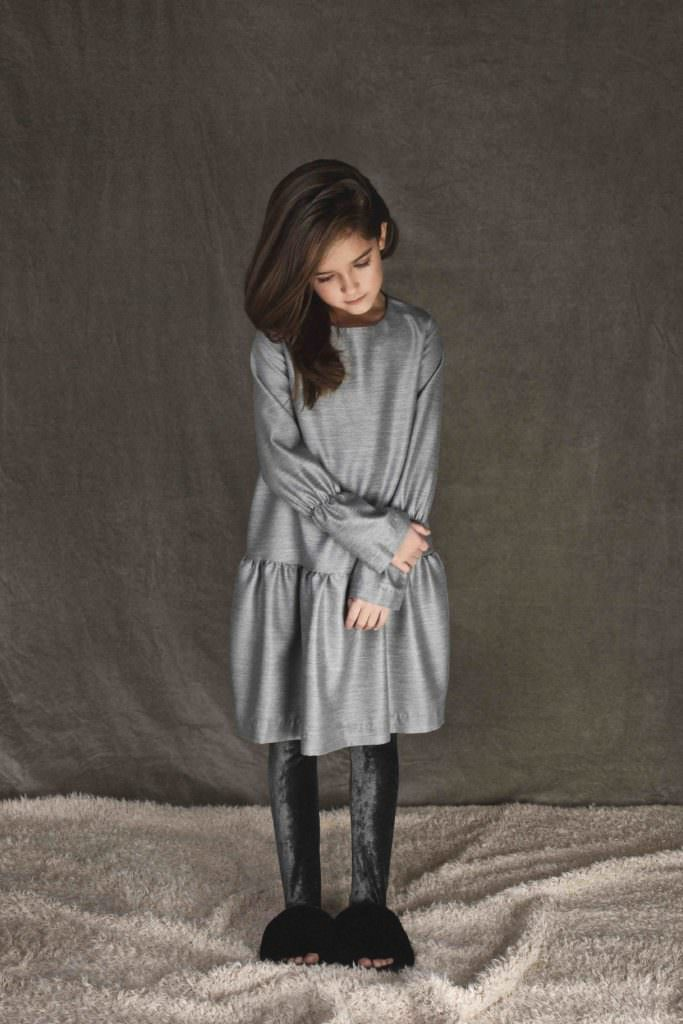 Easy to wear shapes with velvet leggings from UNLABEL for kids fashion fall 2017