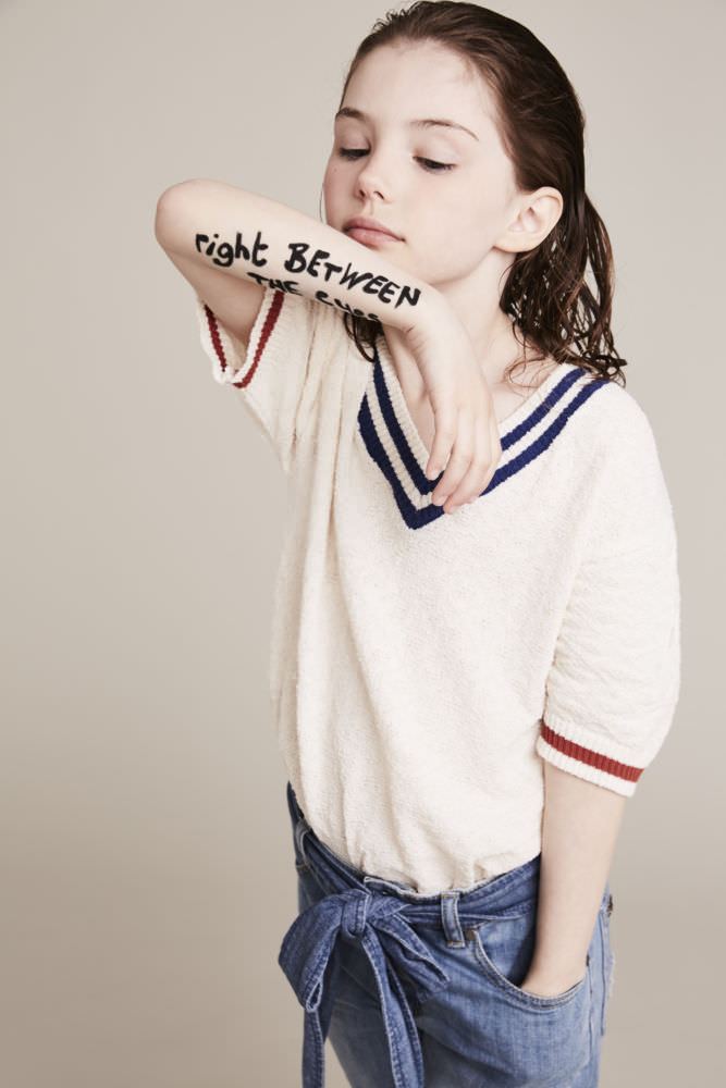 Short sleeve jumper Bobo Choses at Smallable jeans Stella McCartney Kids at Childrensalon.com