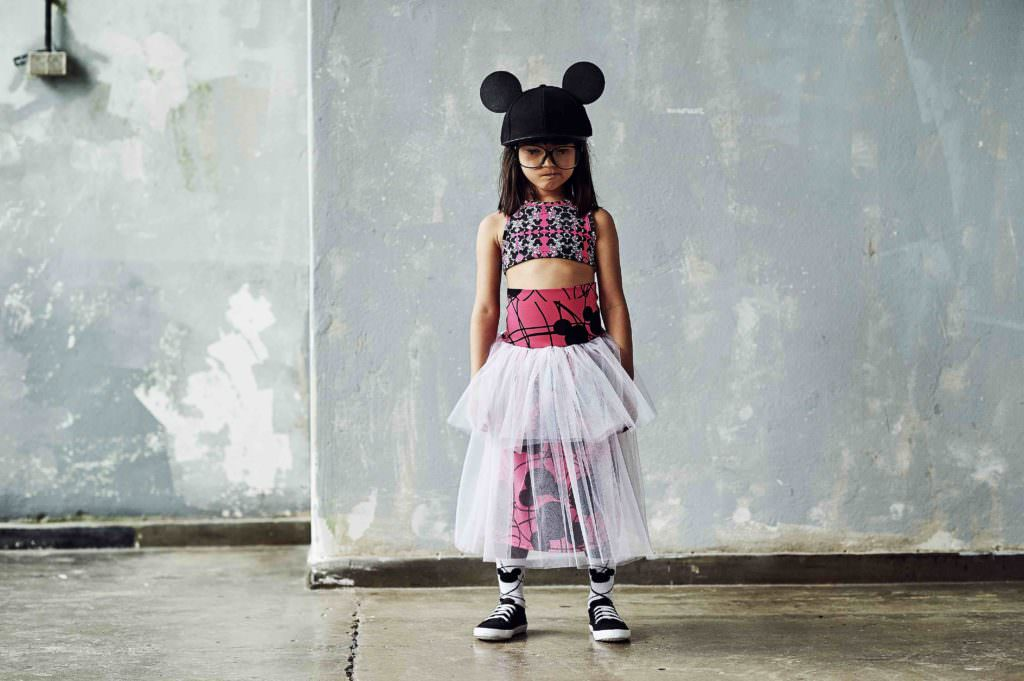 Kids active wear at EFVVA cruise collection available for wholesale buyers now