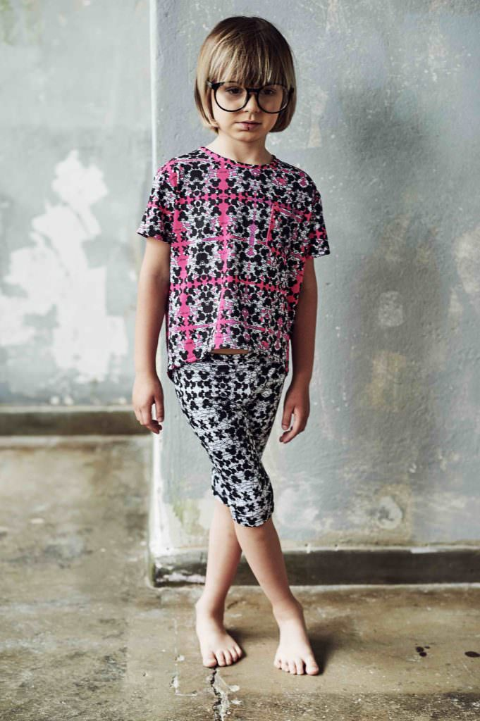 Bold prints from EFVVA for the kids swim and active wear collection to be revealed at Playtime New York in August