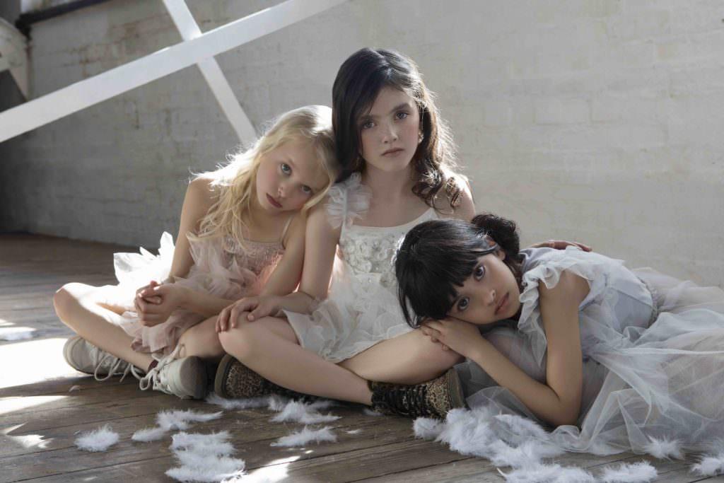 Three little angels Layla, Maiya, and Laila all wearing Tutu De Monde