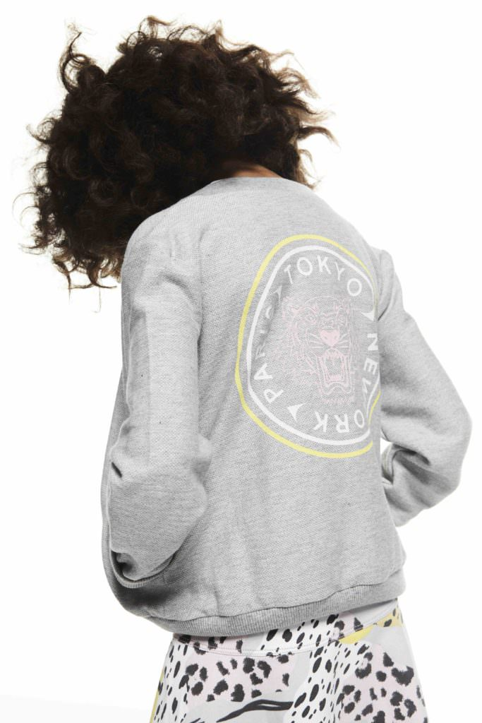 This summers reworked Tiger print sweatshirt from Kenzo kids fashion