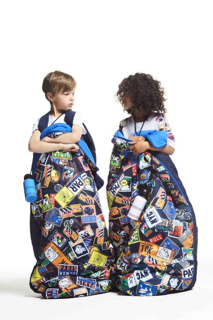 Great sleepover bags by Kenzo Kids