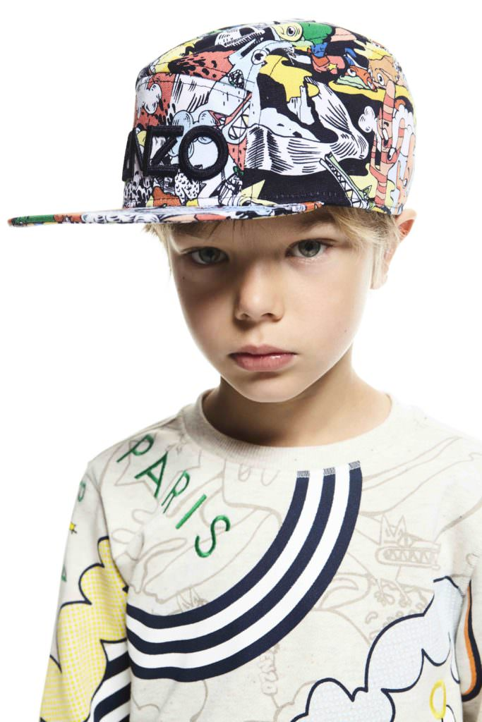 Retro summer prints for boys at Kenzo kidswear