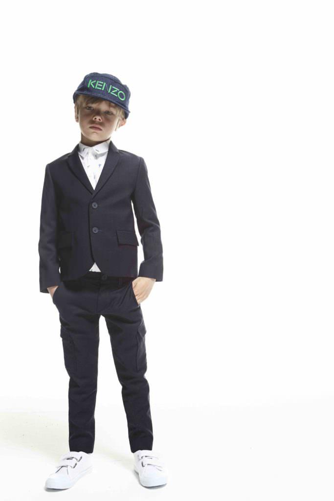 Neat suiting for boyswear from Kenzo Kids summer 2017