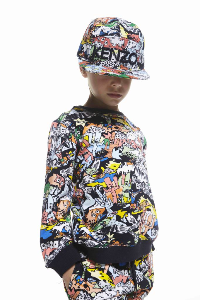 Mad cartoon style prints for Kenzo Kids pop up at Selfridges summer 2917