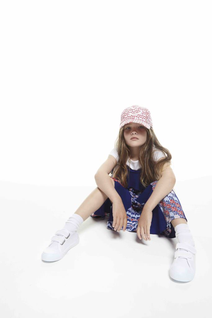 Kenzo kids also has a strong graphic red/white and blue print for summer 2017