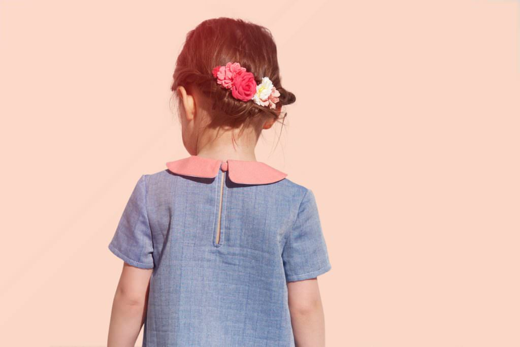 Back view of the Mino girls dress for summer 2017