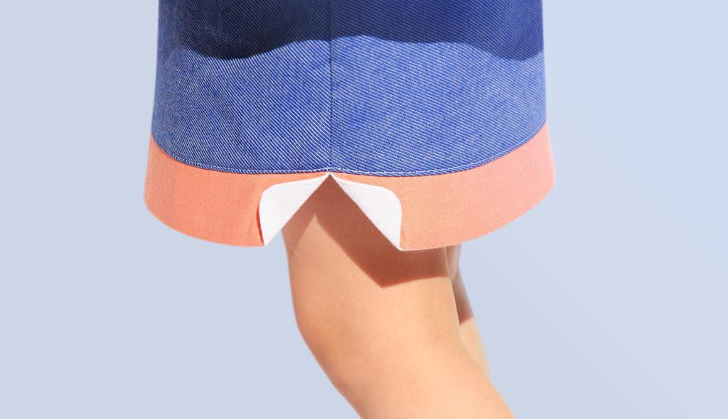 Mino skirt detail, new launch for 4-6 yr children from Paris
