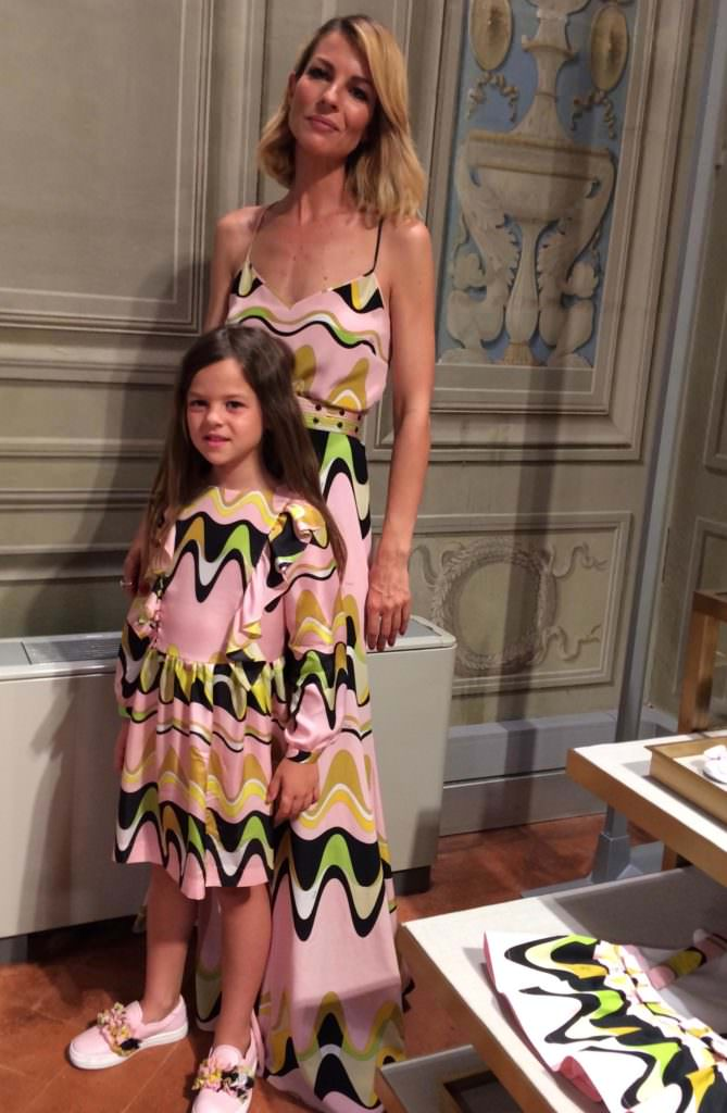 Plenty of mommy and me match opportunities in the new Pucci kids collection for summer 2018