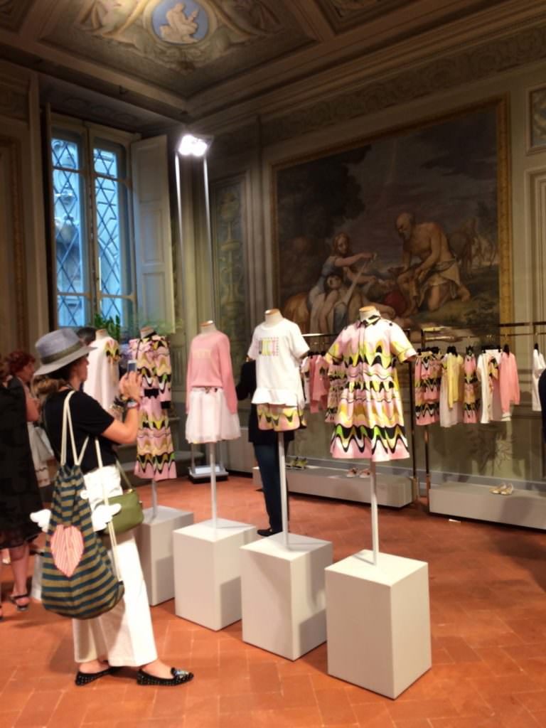 The world's most glamorous showroom in the Pucci Palazzo for the launch of Pucci kids collection summer 2018