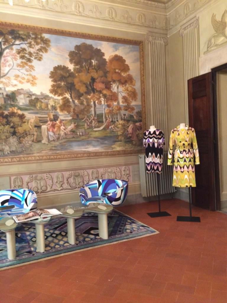Emilio Pucci's original office with inspiring wall fresco's in Florence