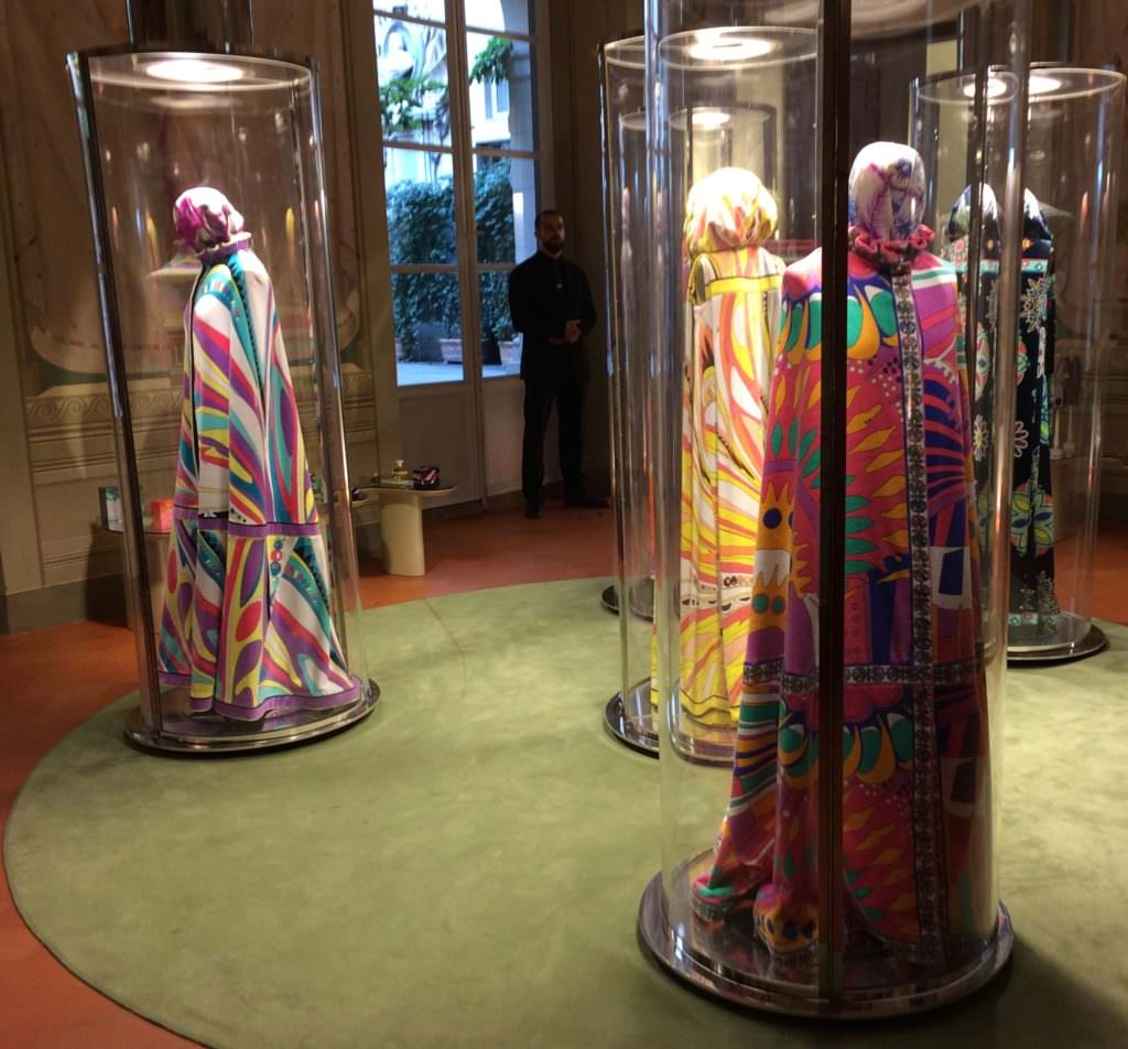 Original samples from the 60's and 70's are kept in sealed casks as if waiting to be awoken in the Pucci Palazzo