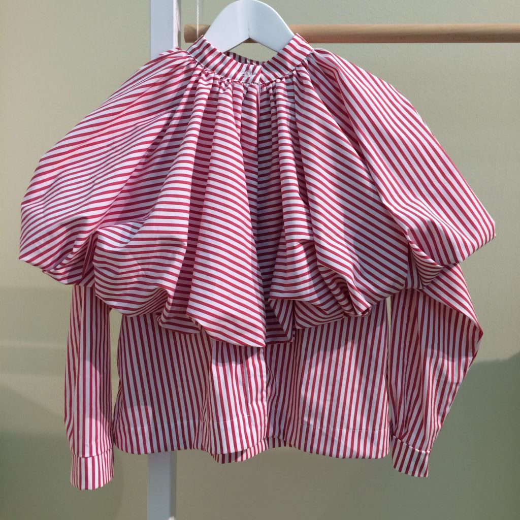 Mummymoon had a fantastic cotton striped girlswear collection at Pitti Bimbo 85 for SS18