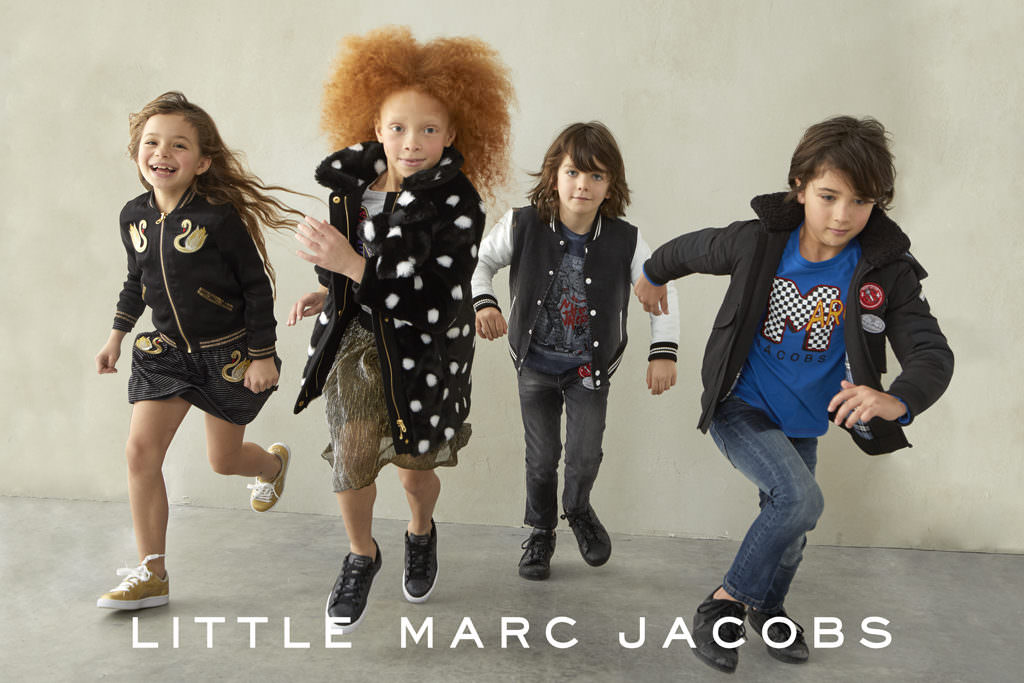 The cool kids squad at Little Marc Jacobs winter 2017
