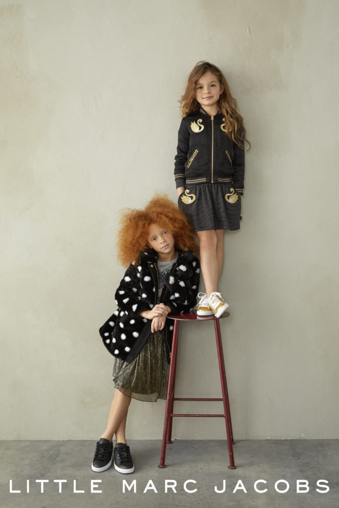 Looks at Little Marc Jacobs reflect 70'/80's retro dressing for little would be clubbers
