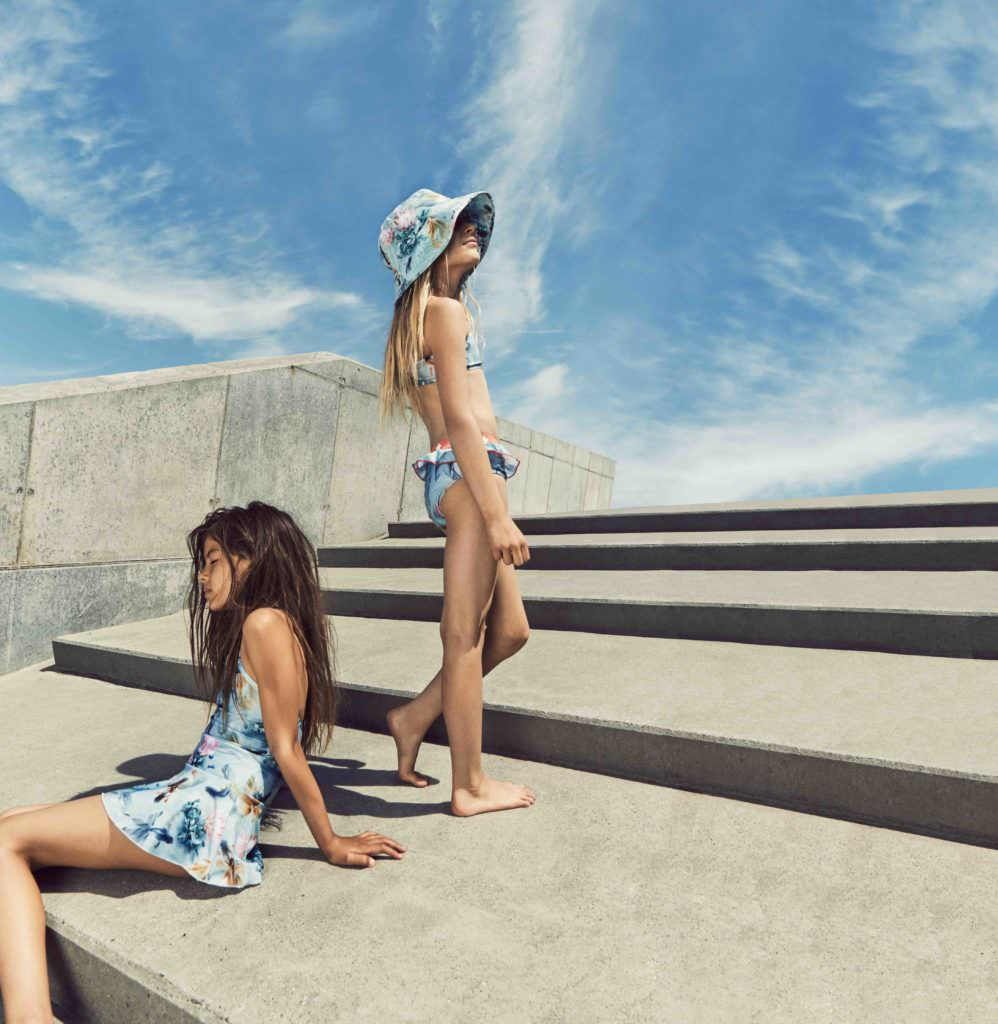 Kids holiday swimwear by Molo for summer 2017