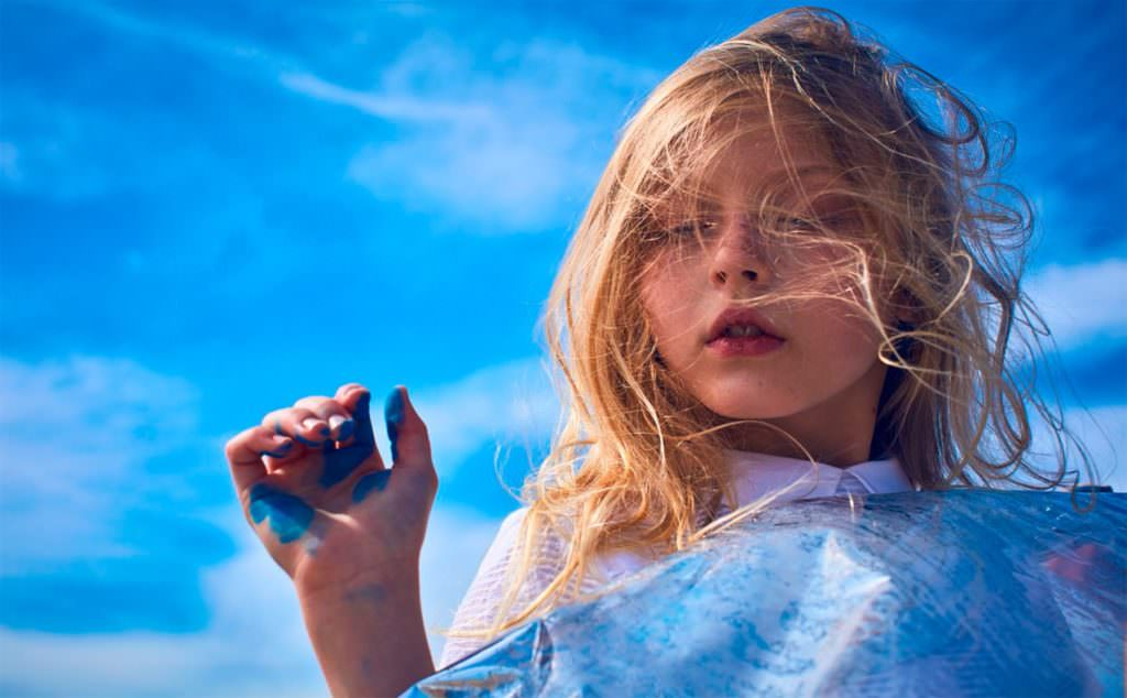 Beautiful blue ocean theme kids story for L'Enfant Terrible magazine