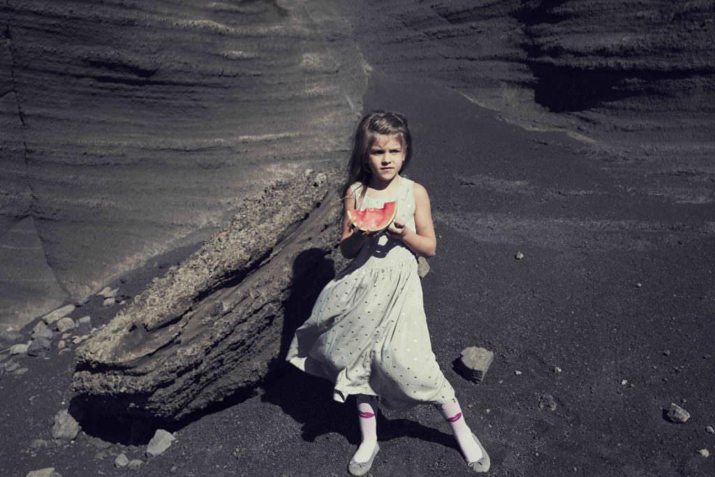 Metallic spot dress by Iglo+Indi for kids fashion spring 2018