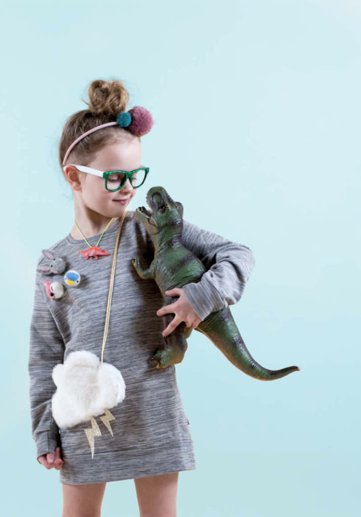 Cute cloud bag and badges at Mimi & Lulu for fall 2017