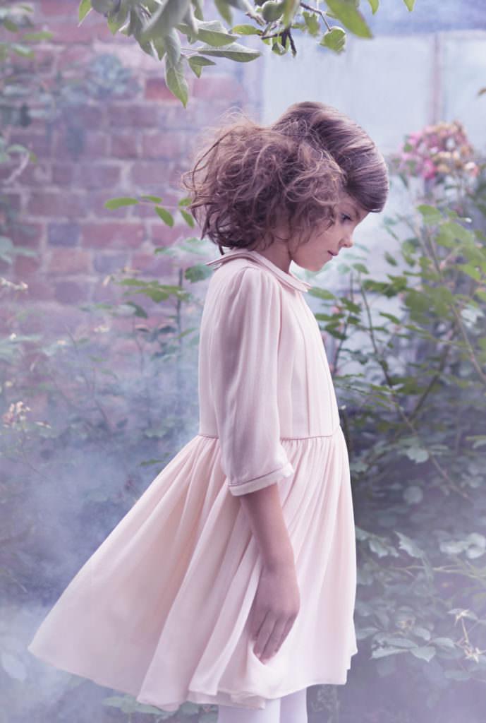Sweet pastel velvets at Marie Chantal childrenswear winter 2017
