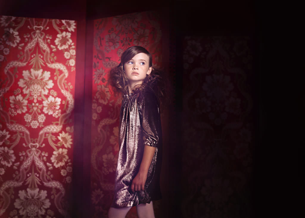 Xmas metallic party dressing by Marie Chantal for Holiday 2017