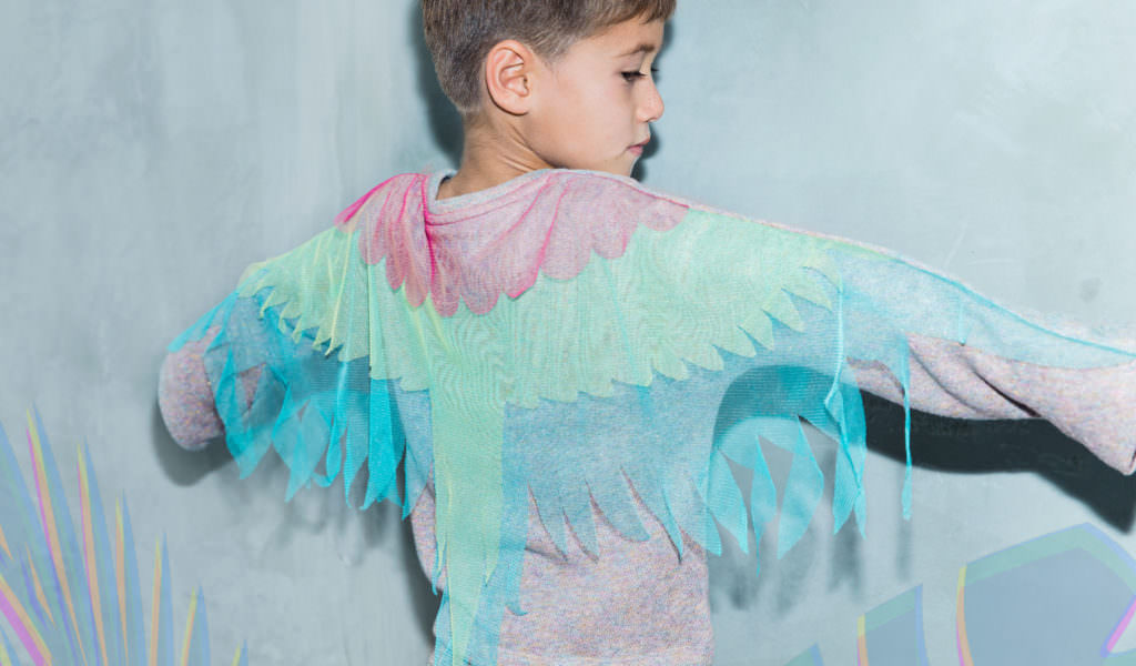 Tropical colour for the Macaw top by Cavalier for winter 2017 kids fashion