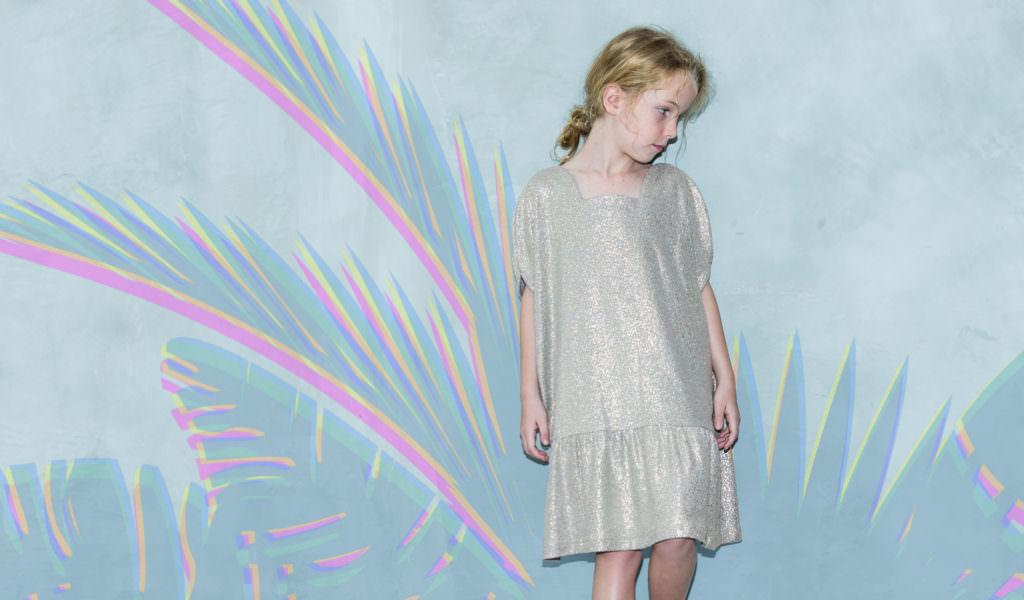 Jelly dress in champagne from Cavalier for fall/winter 2017 kidswear
