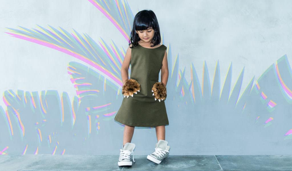Bear Paw pocket dress by Cavalier for fall/winter 2017 kids fun fashion