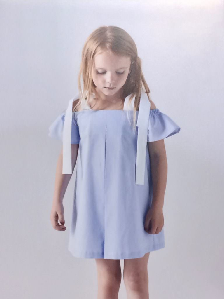 Simple fresh cotton dressing by Korean kidswear label Dinui for SS18