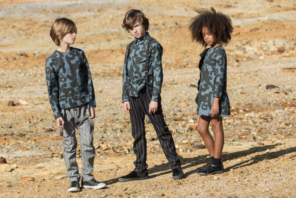 Abstract print for winter 2017 by Motoreta for boys and girls