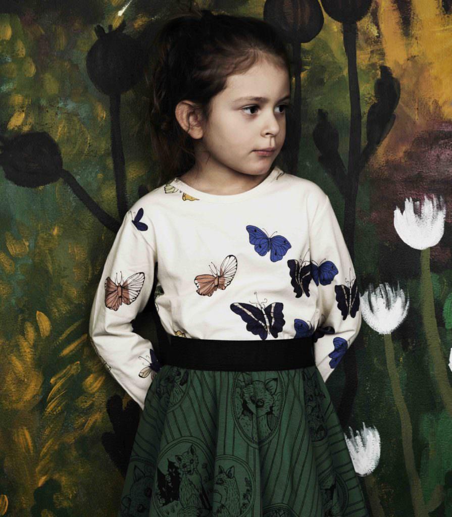 Butterflies for Mini Rodini kidswear fall/winter 2017
