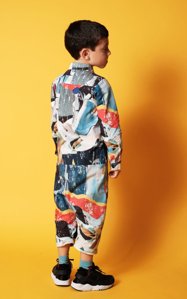 Boyswear is an important part of the Wolf & Rita collection and there are menswear bold printed shirts too for fall 2017
