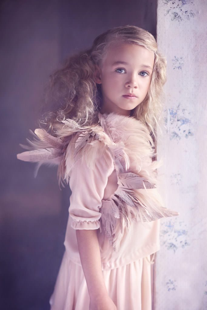 Beautiful portrait by Abi Campbell for Marie Chantal childrenswear fall 2017