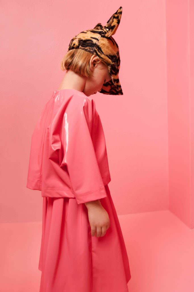 Perfect fashion pink tones from Caroline Bosmans for kidswear fall 2017