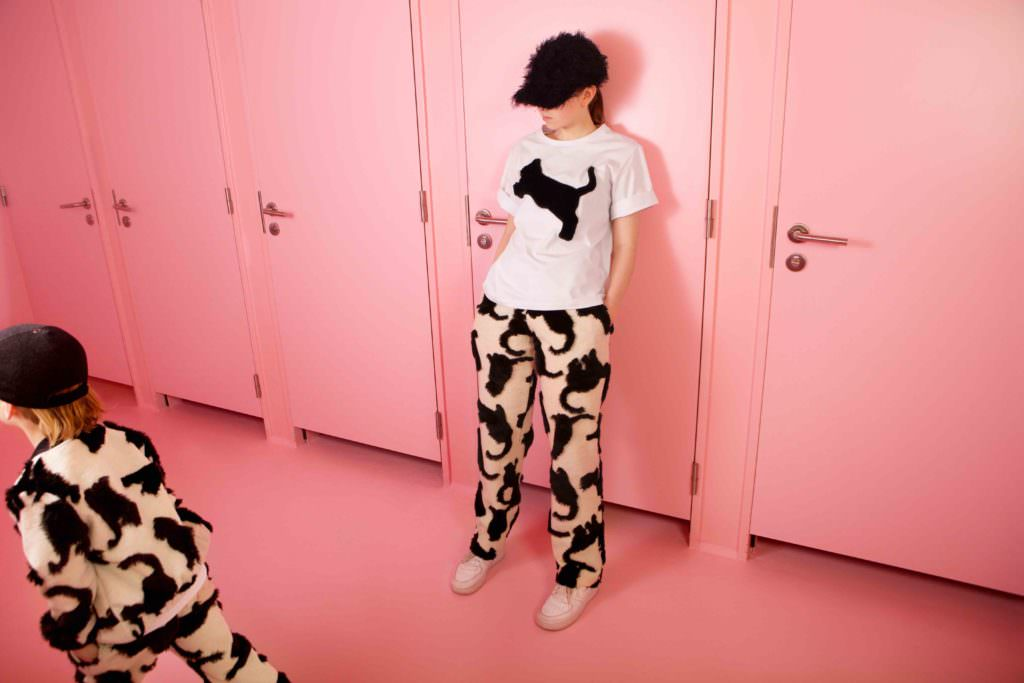 Cat prints from Caroline Bosmans for winter 2017 kidswear which launches on the 11th August