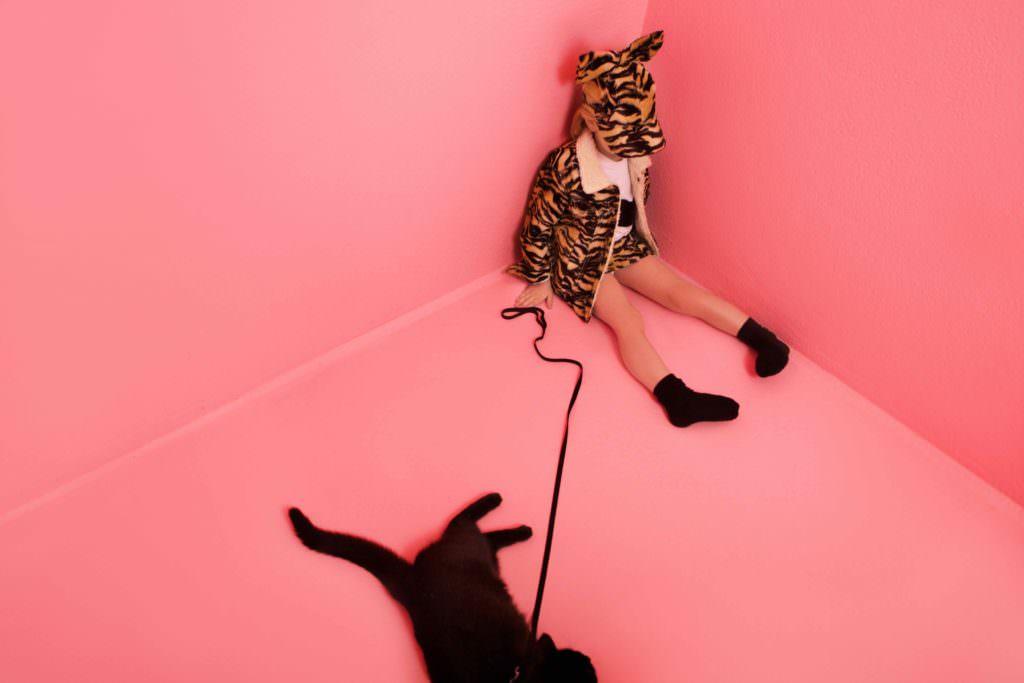 Cat prints at Caroline Bosmans for autumn 2017 kids designer fashion