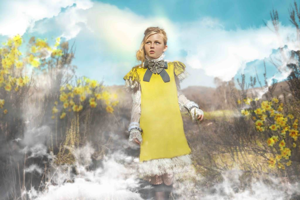 Fantasy landscapes for the Modern Queen Kids fall 2017 campaign titled 'In the Clouds'