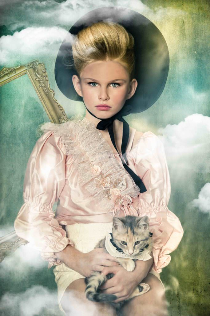 Pussycat gets a collar too at Modern Queen Kids collection for fall 2017