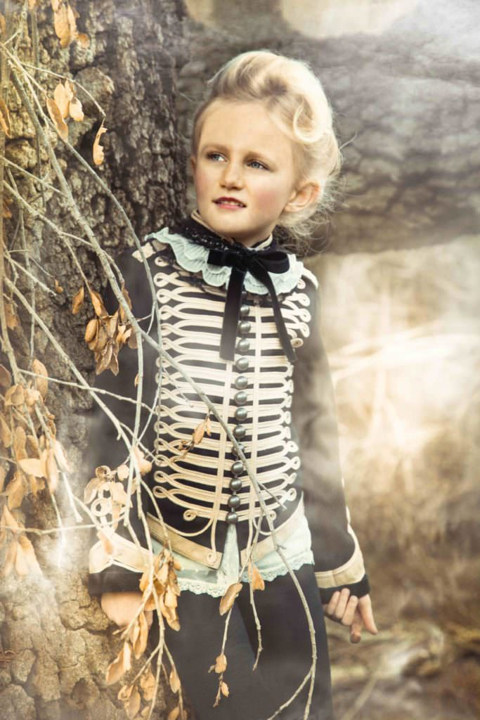 Exquisite kids campaign for Modern Queen Kids accessories shot by Wanda Kujacz