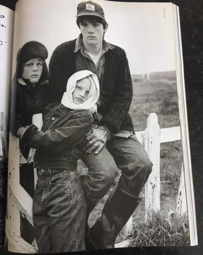 Typical style from Bruce Weber mid 80's for Vogue Bambini