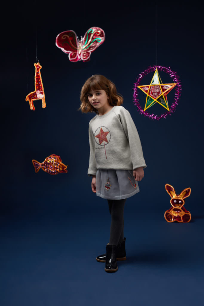 Star symbol fleece by Hannah & Tiff for kids fashion winter 2017