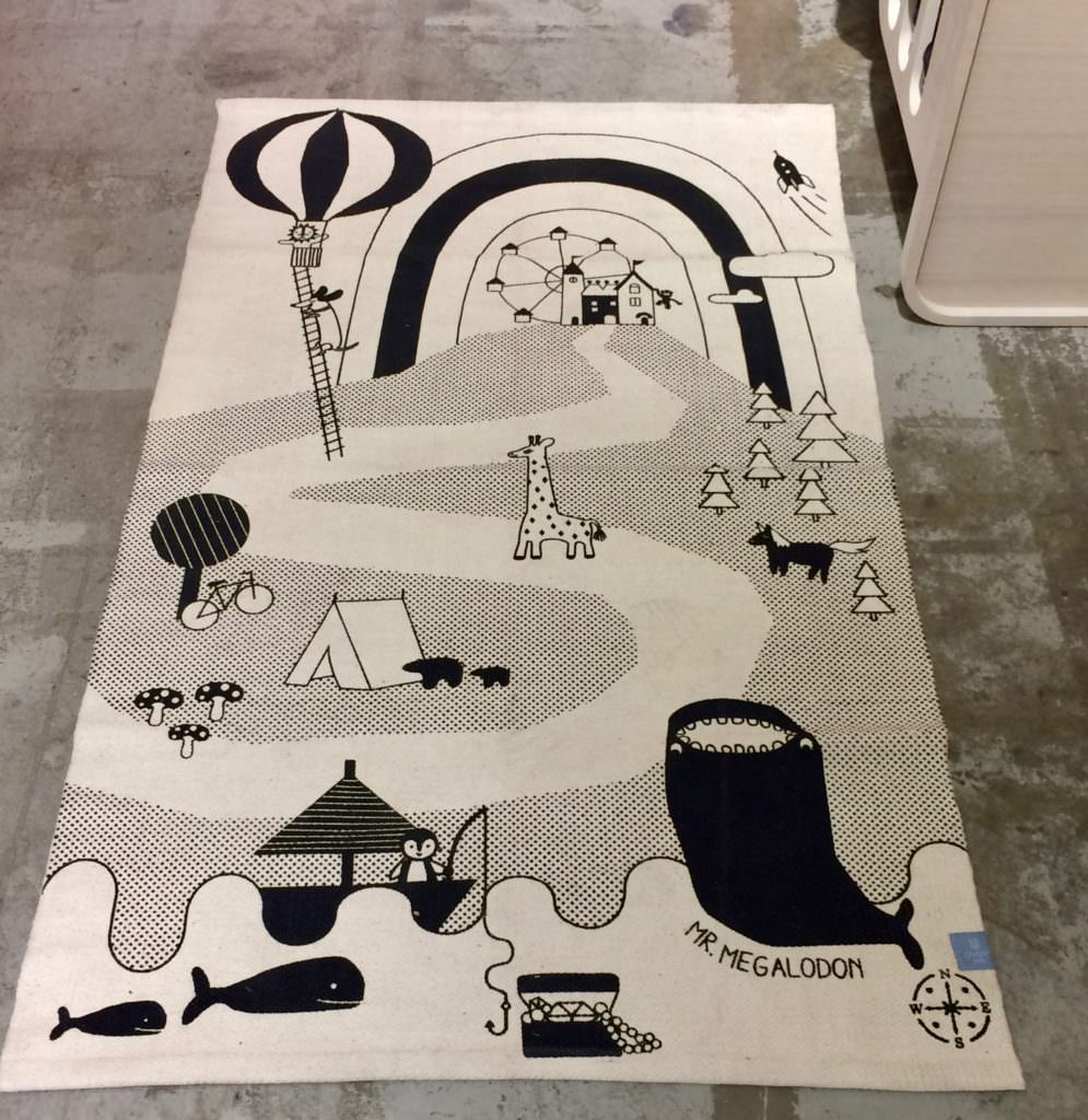 Sweet kids carpet from Ooh Noo at CIFF Kids lifestyle area for summer 2018