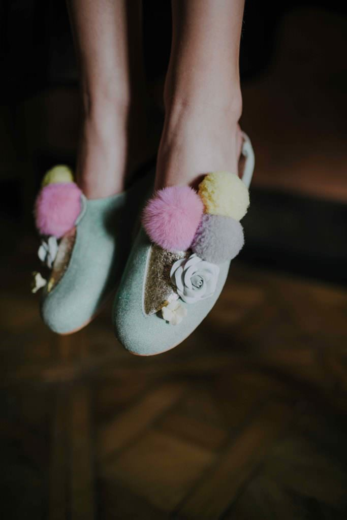 Gelato inspired hand made shoes from Aristocrat Kids for SS18 kid luxury fashion