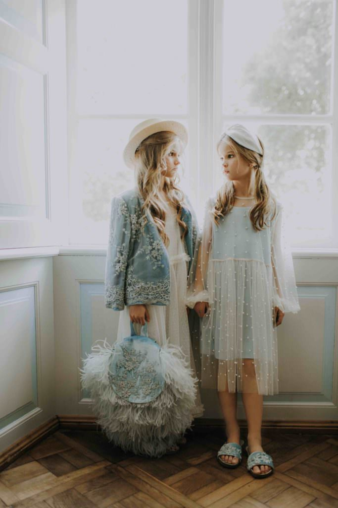 Gorgeous lace details from well known lace manufacturers Sophie Halett at Aristocrat Kids for summer 2018 kids fashion