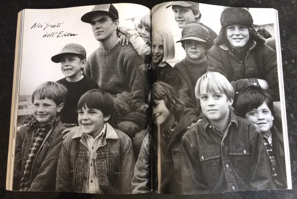 Bruce Weber specialised in group shots for fashion photography, here for Vogue Bambini