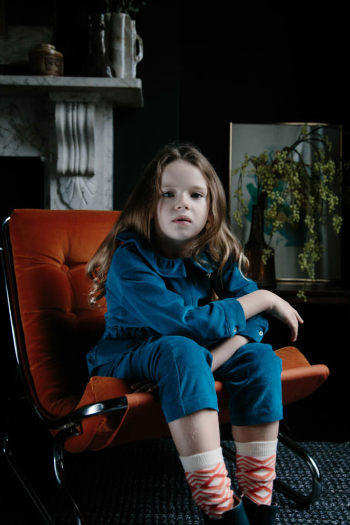 Easy to wear denim blue pieces by Hello Simone girlswear for winter 2017