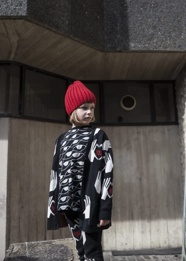 Handprint knits at Beau Loves for winter 2017 kids fashion