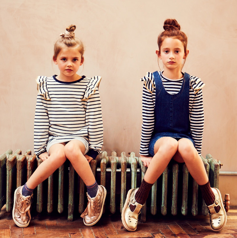 Classic stripes complete the Outside The Lines winter kids fashion collection
